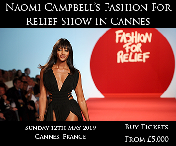 Naomi Campbell Fashion For Relief Show In Cannes