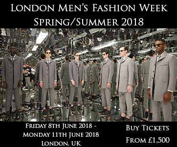 London Men's Fashion Week Spring Summer 2018