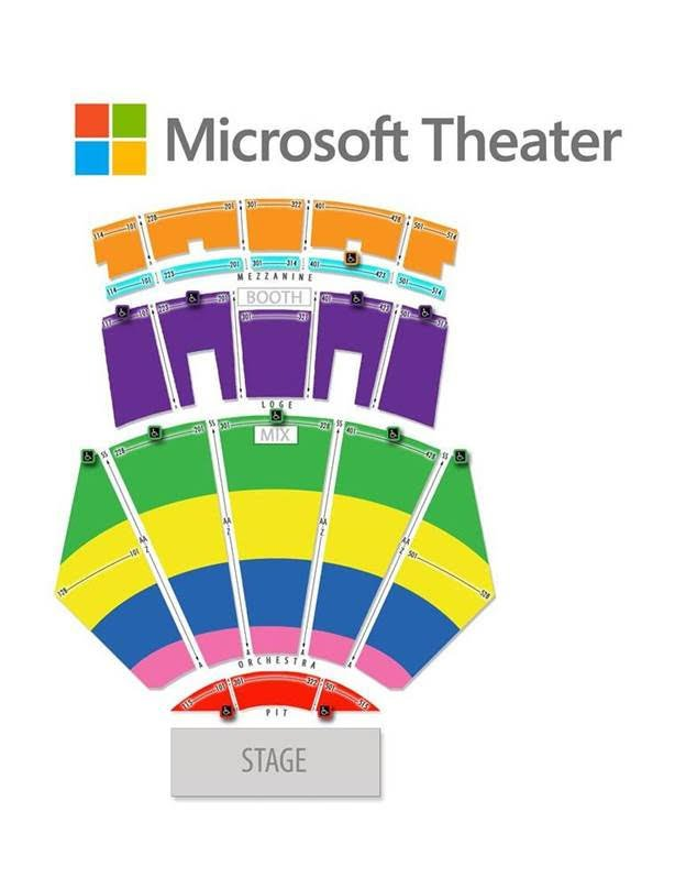 Microsoft Theatre Seating Map