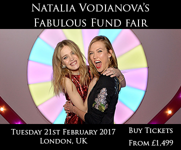 Natalia Vodianovo's fund fair