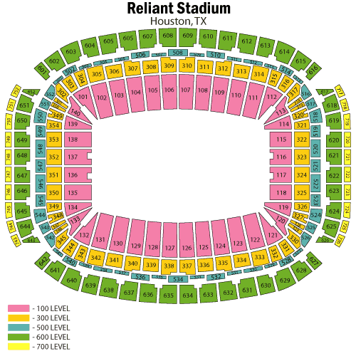 Reliant Stadium Seating Plan