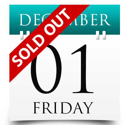 Friday 1st December 2017 Sold Out