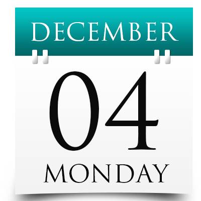 Monday 4th December 2017