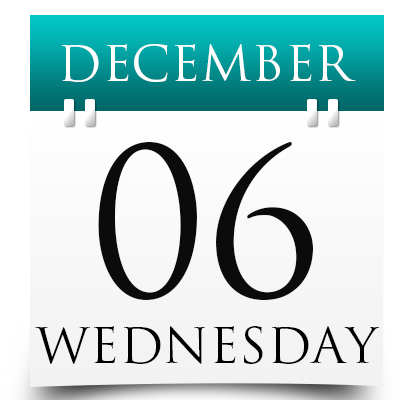 Wednesday 6th December 2017