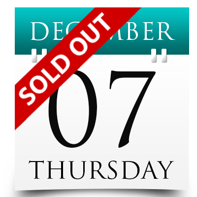 Thursday 7th December 2017 Sold Out