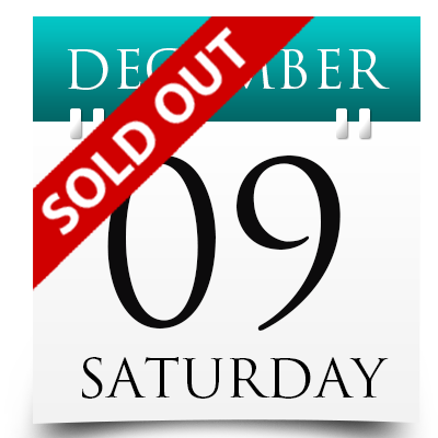 Saturday 9th December 2017 Sold Out