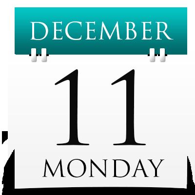Monday 11th December 2017