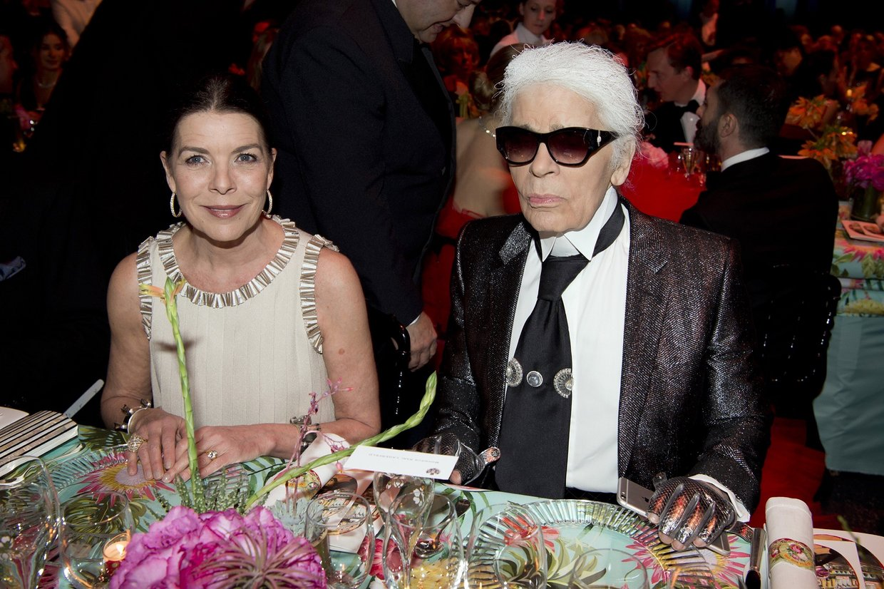 karl lagerfeld and royal family at Bal de la Rose
