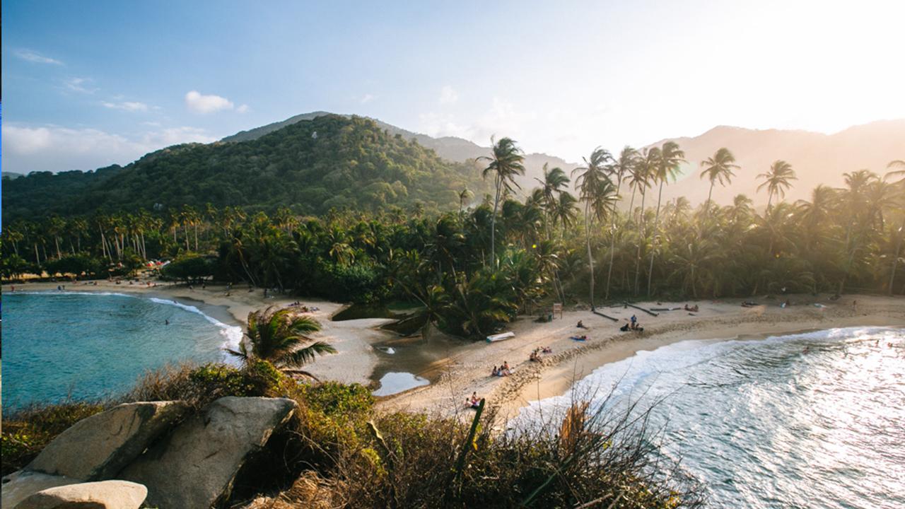 Colombian beach