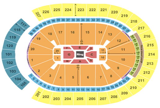 T-Mobile Arena Fight Format