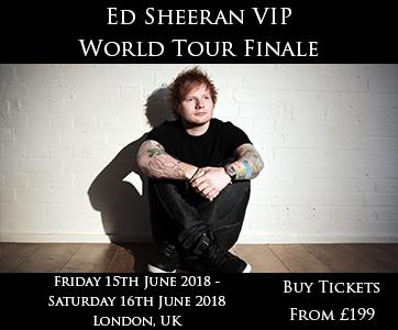 Ed Sheeran VIP World Tour Finale