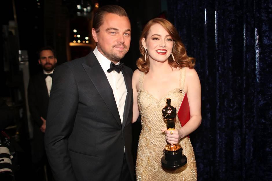 Leo and Emma At Ari Emanuel Oscar Party