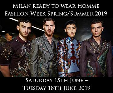 Milan Men's Fashion Week Spring Summer 2019