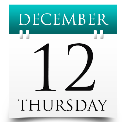 Thursday 12th December 2019