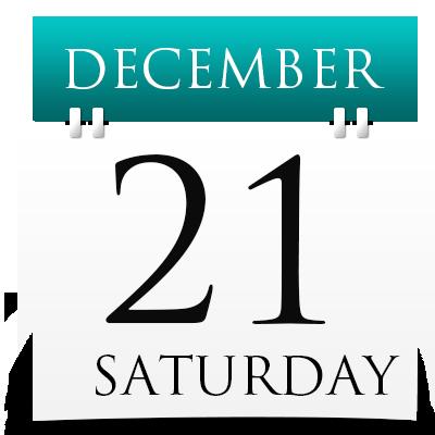 Saturday 21th December 2019