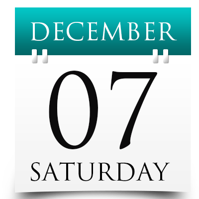 Saturday 7th December 2019