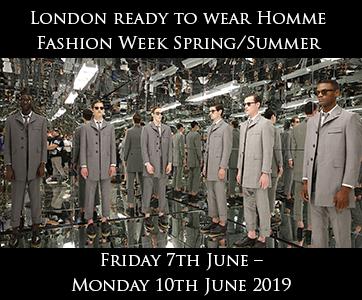 London Men's Fashion Week Spring Summer 2019