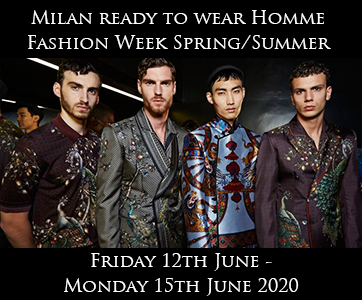 Milan Men's Fashion Week Spring Summer 2020