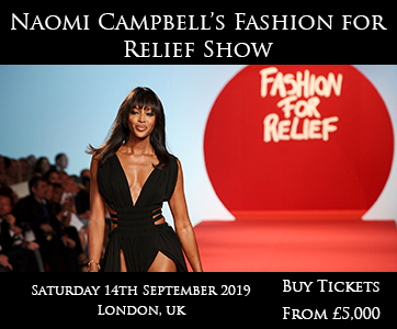 Naomi Campbell Fashion For Relief Show