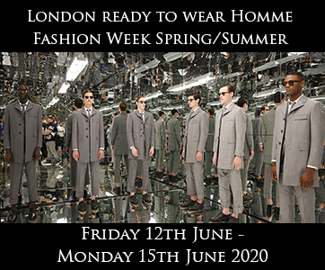 London Men's Fashion Week Spring Summer 2020