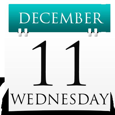 Wednesday 11th December 2019