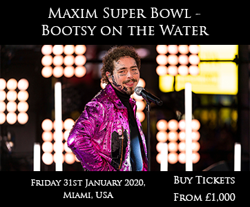 Maxim Super Bowl Bootsy on Water